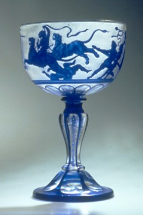 Glass goblet by Franz Paul Zach, 1855, Museum no. 2672-1856