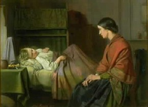 'An Anxious Hour' by Alexander Farmer, 1865, Museum no. 541-1905