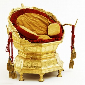 The Golden Throne, about 1820-30. Museum no. 2518(IS)
