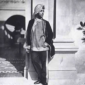 Dr Ernst Becker, &#39;Duleep Singh on the Lower Terrace at Osborne&#39;. Courtesy of the Royal Photographic Collection