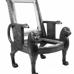 Figure 2. The chair with the upholstery removed. Photography by V
