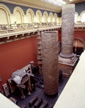 Cast Court, V&A Museum. Overview of the gallery showing the range of scale of plaster casts.