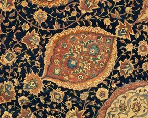 The Ardabil Carpet (detail), Iran, 1539-40. Museum no. 272-1893. © Victoria and Albert Museum, London