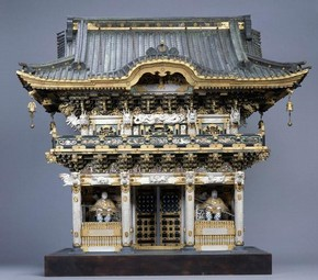 Model of The Yomei-mon gate the The Tomb of Shogun Ieyasu Tokugawa at Nikko. Japan, 1875 - 1900. Museum no. W.5-1918