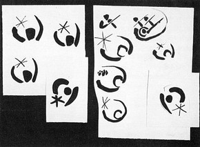 Rufus Leonard design consultancy, sketches produced in the design of a logo for The London Philharmonic Orchestra, 1989-90.