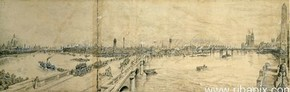 Panorama of London, Henry William Brewer, 1898, © RIBA Library Drawings Collection, www.ribapix.com