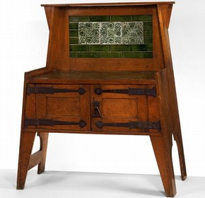 Oak washstand by Liberty & Co., England, c. 1894. Museum no. W. 19-1984