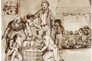 Daniel Maclise, Sketch of Apple Bobbing for the painting 'Snap-Apple Night', 1832. Museum no. F.88:124