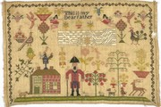Sampler, Unknown, early 19th century. Museum no. 1373-1900