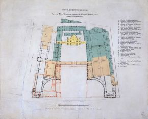 Plan of new buildings, designed by Captain F.Fowke, 1865. Museum no. E.1352-1979 CIS. © Victoria and Albert Musuem, London.