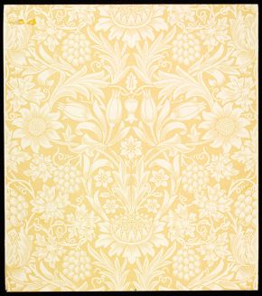 'Sunflower', wallpaper by William Morris, 1879. Museum no. E.817-1915, © Victoria & Albert Museum, London