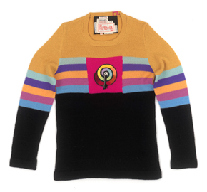 Artists' Collection sweater by The Ritva Man. Designed by Mike Ross in collaboration with Allen Jones, 1971. Museum no. Circ.183-1972 (c) V&A Images