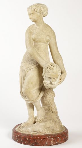 Statuette, Judith with the Head of Holofernes, North France, about 1550, carved marble. Museum no. 6984-1860, © Victoria and Albert Museum, London