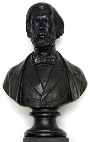 Bust of Sir John Charles Robinson (1824-1913) by Carlo Marochetti, 1864, bronze. Museum no. A.202-1929, © Victoria and Albert Museum, London