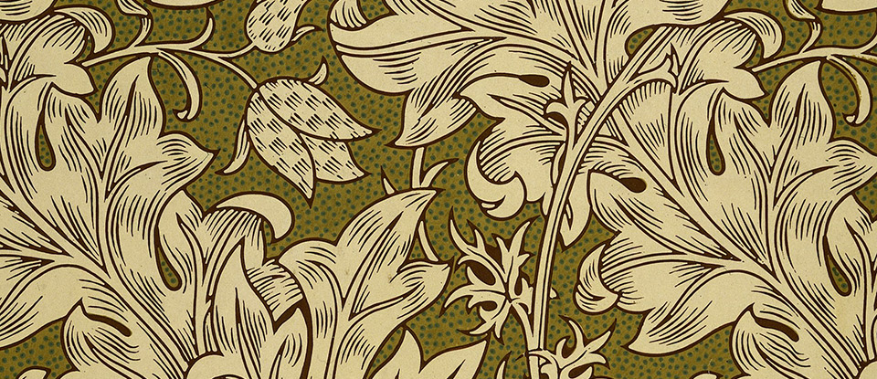 Fritillary, wallpaper, William Morris, 1885. Museum no. E.545-1919. © Victoria and Albert Museum, London.
