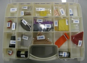 Figure 2 - Collection of plastic reference samples. © Anna Lagana ICN