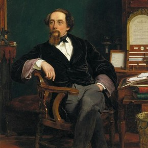 Charles Dickens, oil painting, William Powell Frith, 19th century. Museum no. F.7