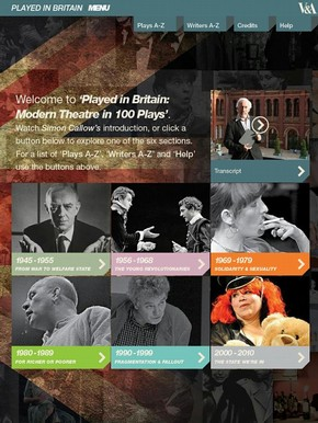 Played in Britain: Modern Theatre in 100 Plays, 1945-2010
