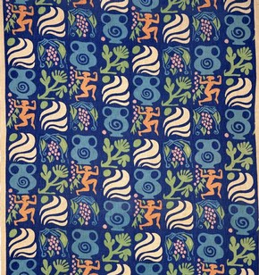 Bacchante furnishing fabric, Michael O'Connell, 1939. Museum no. CIRC.472-1939