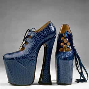Pair of platform shoes, Vivienne Westwood, 1993. Museum no. T.225:1, 2