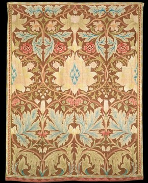Embroidery designed by William Morris, English, about 1880. Museum no. T.192-1953