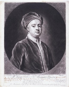 Engraved print of John Gay, London, England, about 1730