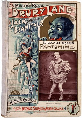 Pantomime text for 'Jack and the Beanstalk' at the Theatre Royal, Drury Lane, London, 1899. © Victoria and Albert Museum, London