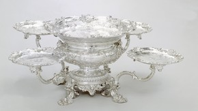 Newdigate Centrepiece, marked by Paul de Lamerie, 1743/4. Museum no. M.149-1919, © Victoria and Albert Museum, London