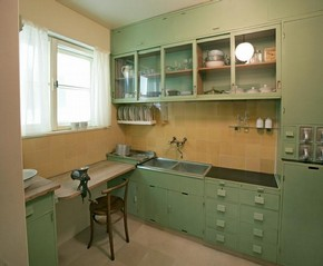 Frankfurt Kitchen, designed by Grete Schtte-Lihotzky, 1926/27. Museum no. W.15:1 to 89-2005