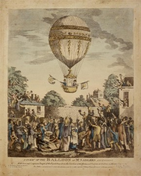 Mr Sadler's balloon, date unknown