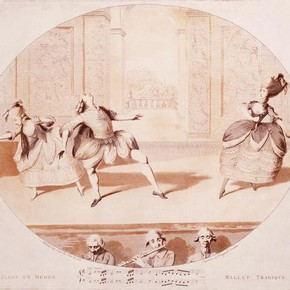 Print of Gaétan Vestris (1729-1808) as Jason performing at Randolphe King's Theatre, late 18th century. Museum no. E.2836-1962
