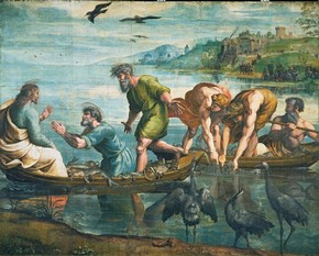Raphael, 'The Miraculous Draught of Fishes' (Cartoon), 1515-16. On loan from HM Queen Elizabeth II