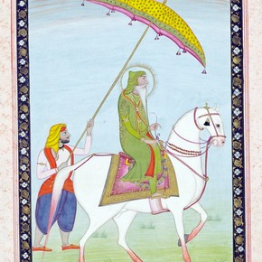 Maharaja Ranjit Singh on horseback, unknown artist, Punjab, 1838-1840. Museum no. IS.112-1953