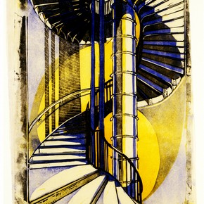 'The Tube Staircase', by Cyril Edward Power. Museum no. E.76-1981