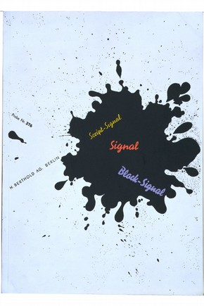 'Signal', printers' typeface booklet by Herbert Bayer, Germany, 1929. Museum no. NAL SZ.0071