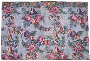 Portion of wallpaper with matching border, about 1755-60. Museum no. E.2296, 2296A-1966