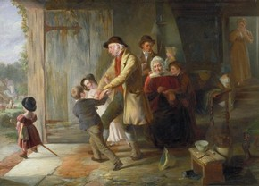 'Going to the Fair' by Thomas Webster RA, 1837, Museum no. FA.220