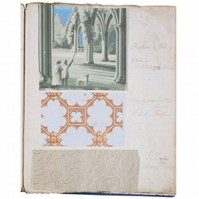 Page 22 (recto) from a wallpaper sample book, England, UK, 1837–44. Museum no. E.431-1943
