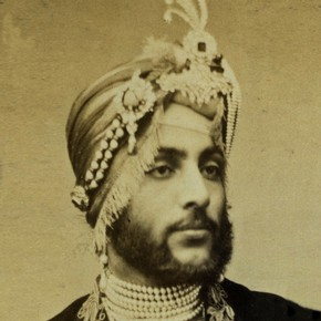 Carte de visite, Dalip Singh, England, 1850-1900. Museum no. 2831-1934