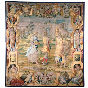 'Manhood', wool and silk tapestry by Benedetto Squilli from designs by Giorgio Vasari, Florence, Italy, 1565. Museum no. T.110-1975