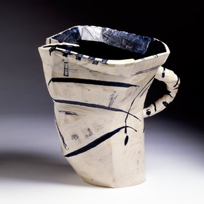 Alison Britton, 'Big White Jug', earthenware, height 382mm, width 390mm, 1987. Museum no. C.233-1987