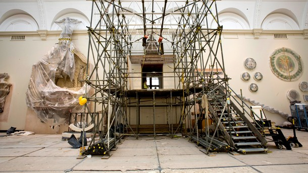 Figure 1. Ongoing works for the Medieval & Renaissance Galleries (Photography by Maike Zimmermann, V&A Photographic Studio).