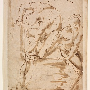 Study from the Cartoon of Pisa by Michelangelo, Italy, about 1495-1563. Museum no. DYCE.163