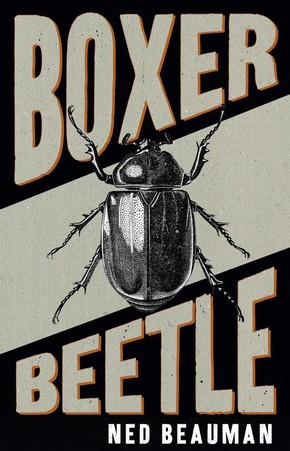 Lorenzo Petrantoni cover to 'Boxer Beetle' by Ned Beauman, Hodder & Stoughton, 2010