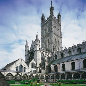 Cloister Garth, the Benedictine Abbey of St Peter, Gloucester Cathedral, Gloucestershire, England, UK. Photograph © Gloucester Cathedral.