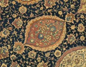 Ardabil carpet, Iran, 1539-40, detail. Museum no. 272-1893