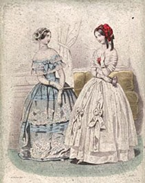 Fashion plate, from the Petit Courier des Dames, February 1845