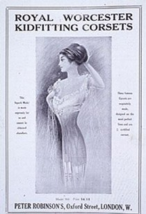 'Royal Worcester Kidfitting Corsets', printed advertisement, 1911
