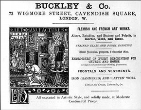 Advertisement For Church Furnishers Buckley