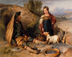'The Stonebreaker and His Daughter' by Sir Edwin Henry Landseer RA, 1830, Museum no. 508-1882